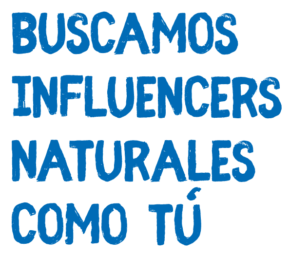 Texto header quiero ser influencer natural
